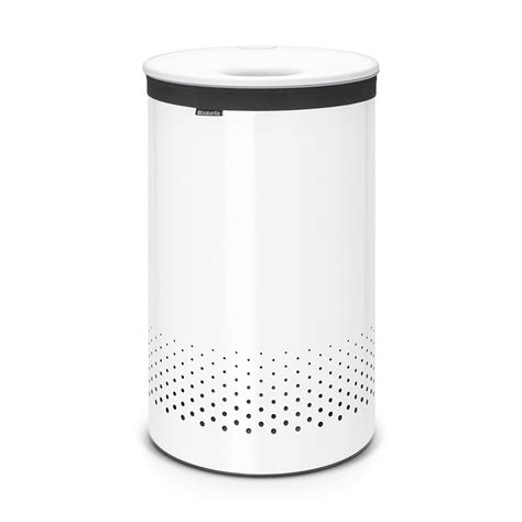 Buy Brabantia Laundry Bin White With White Plastic Lid White Laundry With Lid