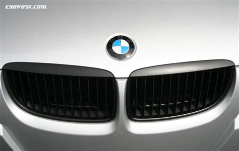 bmw grill bmw e9x kidney grille blackout shadowline diy