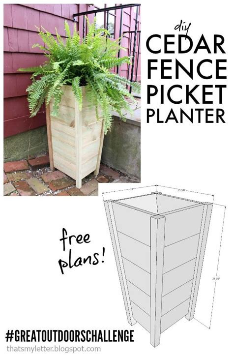 Picket Fence Planter by Diy 10 Fence Picket Planter Scrapworklove