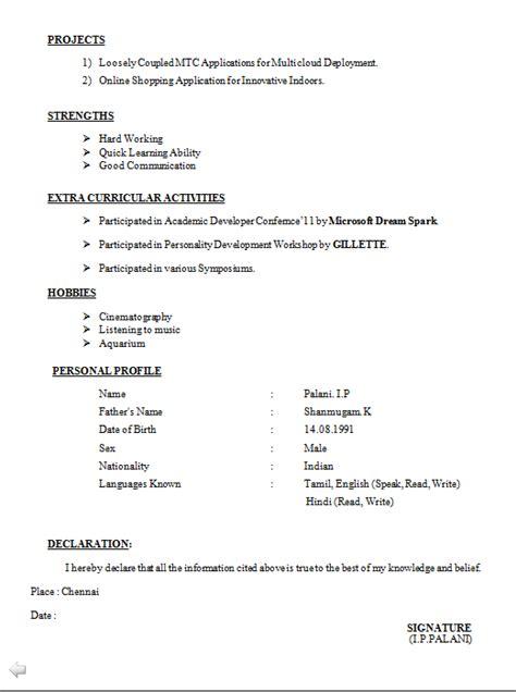Latest Curriculum Vitae Format 2014 Download | Example Good Resume ...