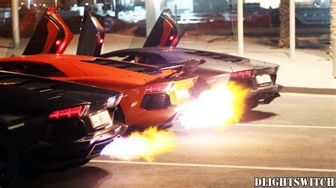 How Fast Does Lamborghini Go Three Lamborghini Aventadors A Contest Speed