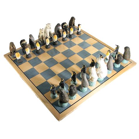 themed chess sets glaciar crafted chess set