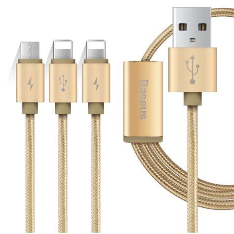 Kebel Usb 3 In 1 Usb Cable Usb Micro Usb Lightning 8 Pin T2385 baseus 3 in 1 micro usb 2 lightning usb cable 1 2 meter