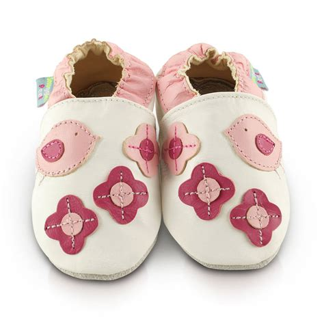 birds soft leather baby shoes by snuggle
