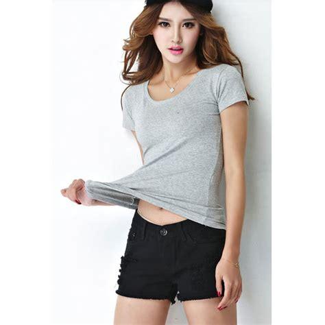 Kaos Polos Katun Wanita O Neck 86101 T Shirt 1 kaos polos katun wanita o neck size l 86101 t shirt