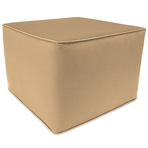 Canvas Ottoman Buy Outdoor Square Pouf Ottoman In Sunbrella 174 Canvas Camel From Bed Bath Beyond