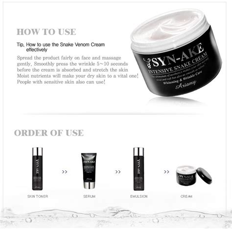 Chantile Whitening Anti Aging Series ariany whitening anti wrinkle care synake skin care series toner lotion serum made in