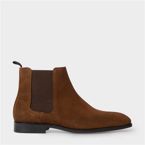 paul smith s brown suede gerald chelsea boots
