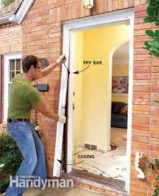 How To Replace Exterior Door Frame How To Replace An Exterior Door The Family Handyman