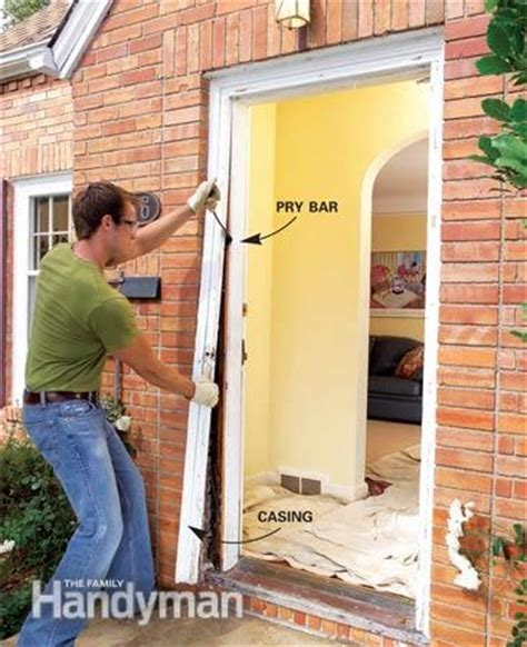 How To Replace An Exterior Door The Family Handyman Exterior Door Frame Installation