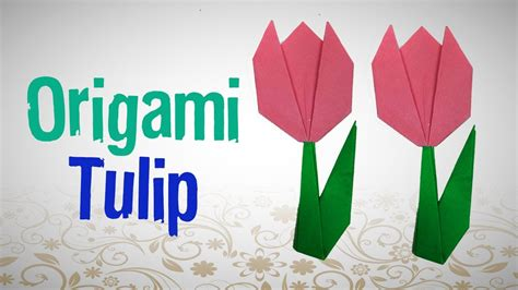 How To Make An Origami Tulip - origami amusing origami tulip origami tulip