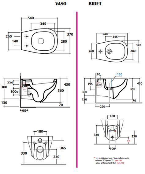 dimensionamento bagni wc sospeso vendita sanitari bagno globo affetto
