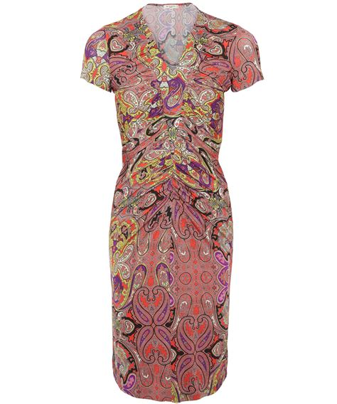 Jersey Dress Gamis Jersey 26 lyst etro paisley v neck jersey dress in