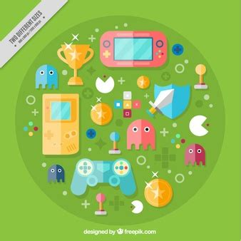 design elements in games pacman vectors photos and psd files free download