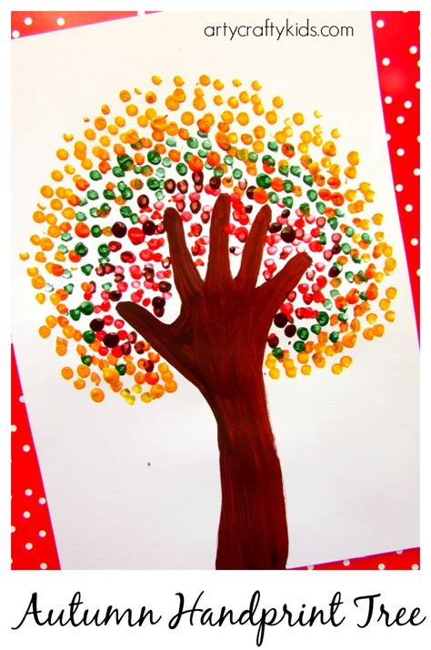 3 handprints tree autumn handprint tree arty crafty