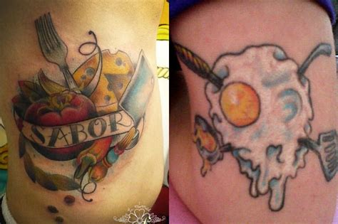 food tattoo designs best chef tattoos