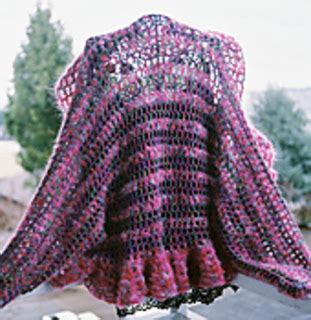 ruffled crochet shrug pattern ravelry ruffled shrug pattern by mary jane hall