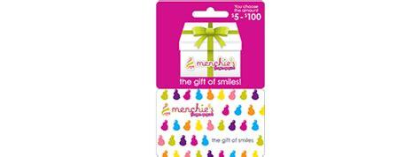 Menchies Gift Card - redeem points speedy rewards speedway