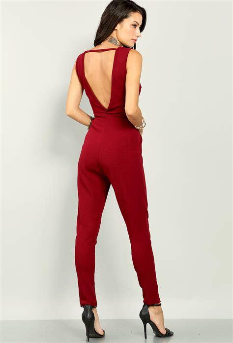 Self Tie Dress self tie plunging jumpsuit shop dresses at papaya clothing