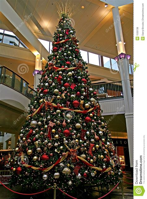 mall christmas tree stock photo image of gift commerce
