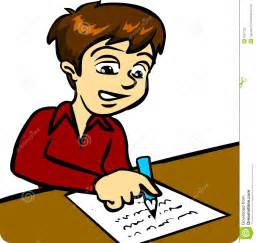 Literary Essay Clipart by Boy Writing Royalty Free Stock Photo Image 2651235