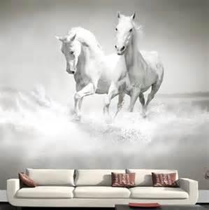 custom photo wallpaper horse white horse large mural horse wall murals wallpaper