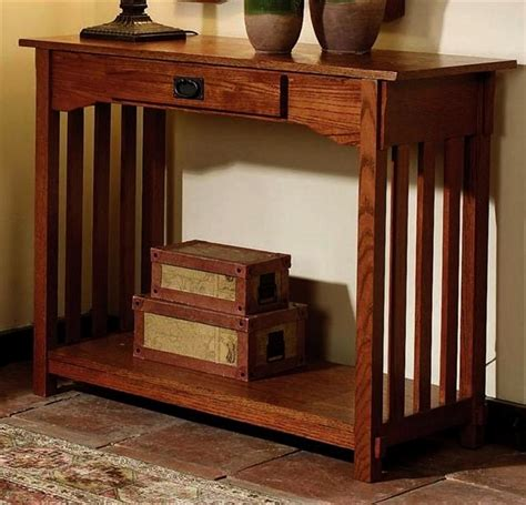 mission oak sofa table oak mission sofa table home styles mission style
