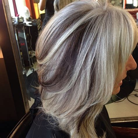 images of silver highlights on very dark short hair short grey hair pics short hairstyles 2016 2017 most
