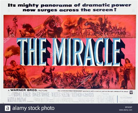 The Miracle Free Poster The Miracle 1959 Stock Photo Royalty Free Image 30962590 Alamy