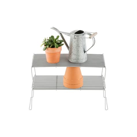 medium flat wire stackable shelves the container store