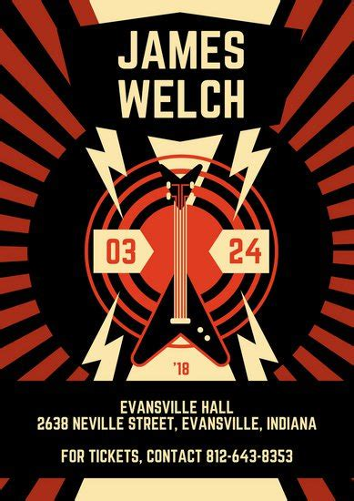 templates for large posters customize 171 concert poster templates online canva
