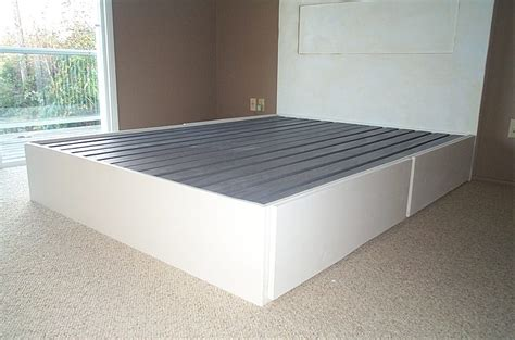 How To Make A Bed Frame With Drawers How To Build A Size Bed Frame With Drawers Home Design Ideas