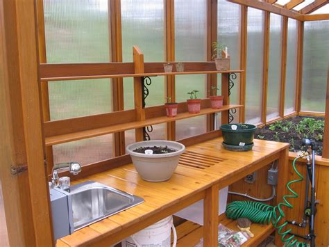 cedar greenhouse  potting bench  jhtuckwell