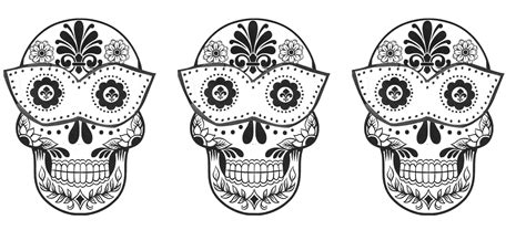 anatomy coloring book skull three sugar skull coloring pages coloringsuite