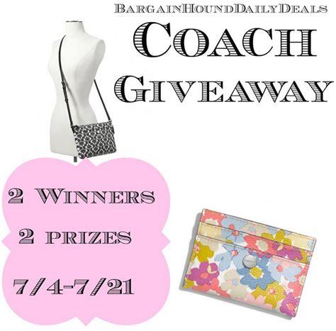 Coach Giveaway - win a coach purse or a coach wallet 2 winners