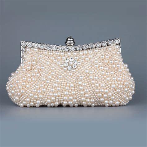 Handmade Evening Bags - luxury pearl handmade evening bag clutch