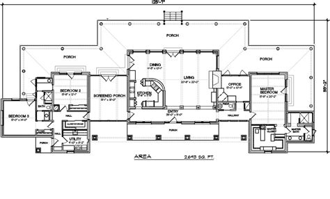 Ranch Style Floor Plan Ranch Style House Plan 3 Beds 2 5 Baths 2693 Sq Ft Plan