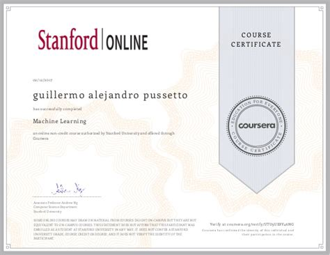 Coursera Stanford Mba by Machine Learning By Stanford On Coursera