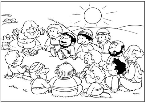 jesus and the 12 disciples coloring page 2017 coloring