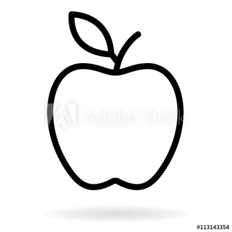 apple  drawing apple black silhouette vector