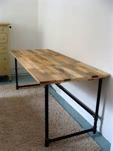 Wood Desk Ideas Best 25 Pipe Desk Ideas On Industrial Pipe Desk Diy Pipe And Pipe Table