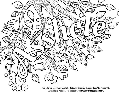 U Of L Coloring Pages by Curse Words Coloring Pages Gallery Free Coloring Books