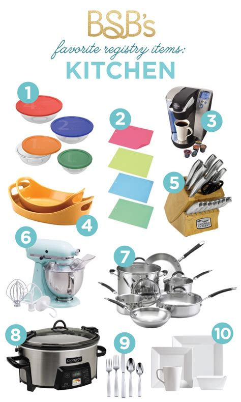 kitchen must haves list bsb s registry must haves kitchen the budget savvy bride