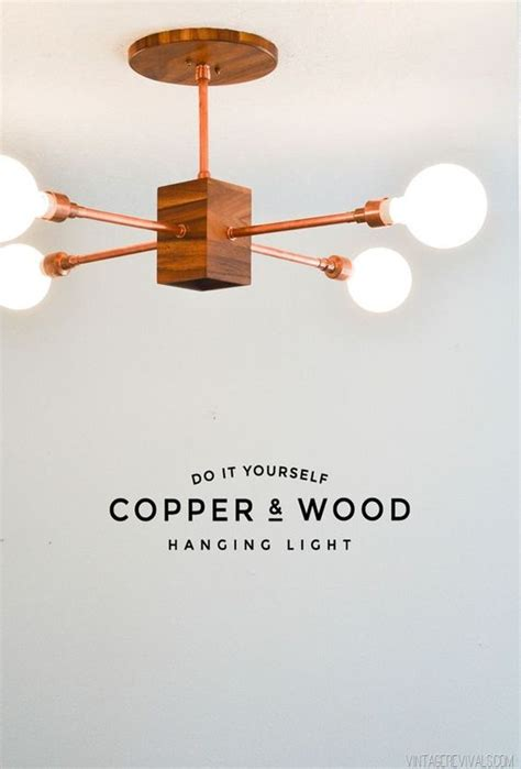 Do It Yourself Pendant Light Diy Copper And Wood Hanging Light Fixture Vintage Revivals Beautiful Copper And Do It Yourself