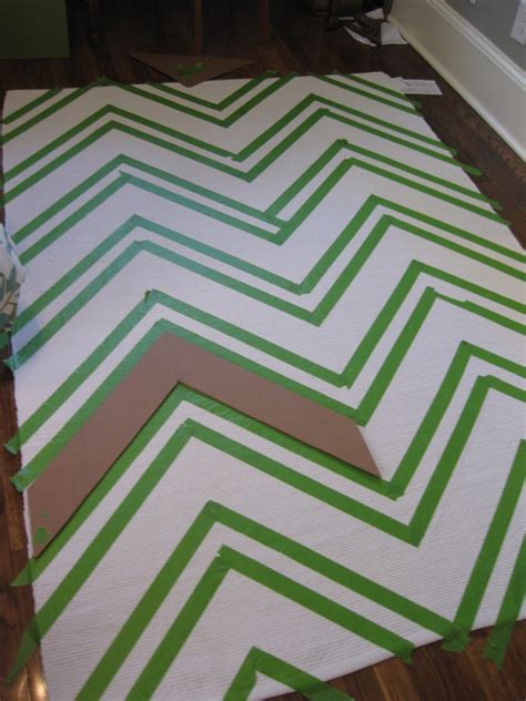 taped rugs chevron rug diy ikea hackers
