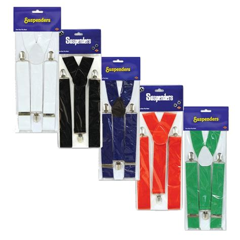 colored suspenders solid color suspenders 1 pkg select color partycheap