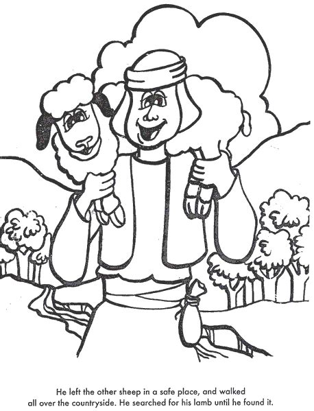 lost lamb coloring page coloring pages