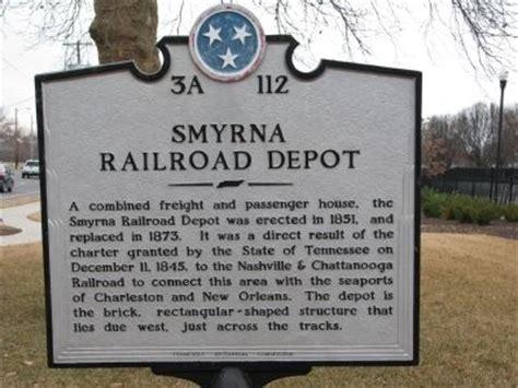 smyrna railroad depot historical marker