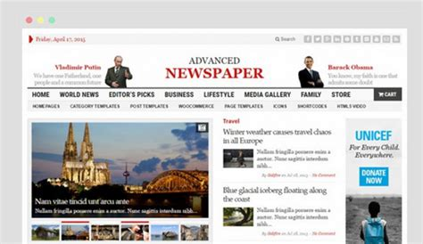 theme advanced newspaper best free newspaper wordpress themes af templates