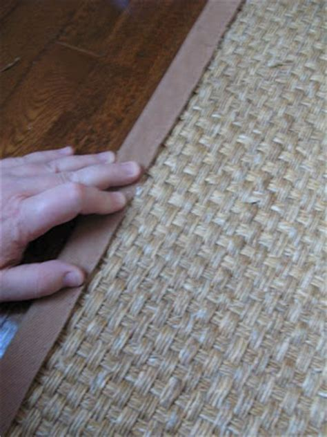 rug cutting and binding an cottage cutting a seagrass rug